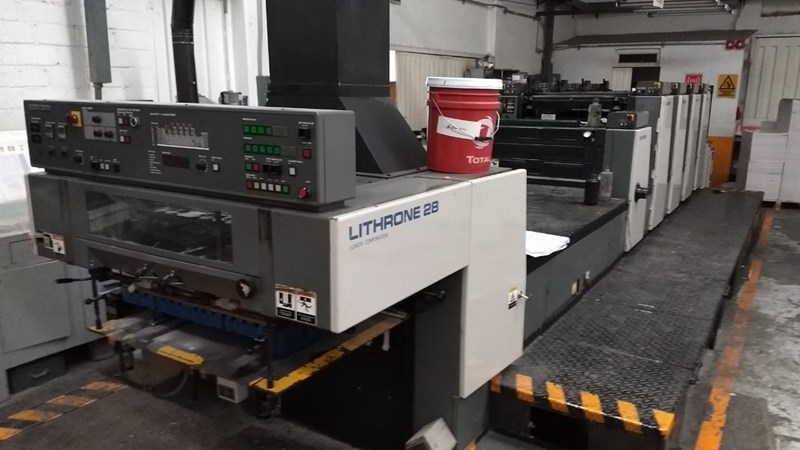 Show details for Komori L428 + Coater 4 Unit Press