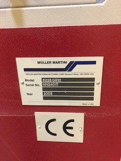 Müller Martini Cohiba Palletizer 6228