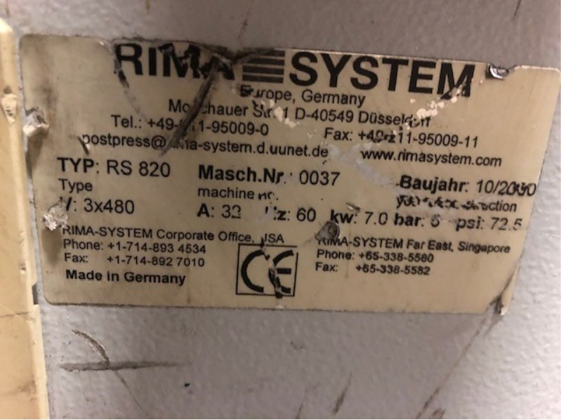 Rima RS 830/831 Rotary Trimming Line