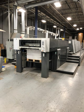 2008 HEIDELBERG XL 105-5+LX. Sheet Fed