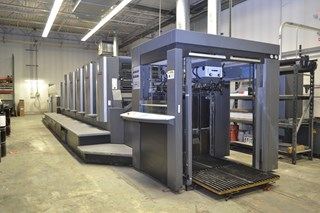 "Show details for Heidelberg CD102-5+L 28""x40"" 5/c sheet fed offset printing press"