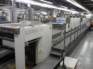 "Komori LS840P+L 8/C 40"" 4/4 perfector Sheet Fed"