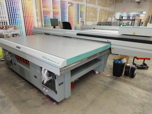 Show details for  Fuji Acuity Advance Select HS flatbed UV printer