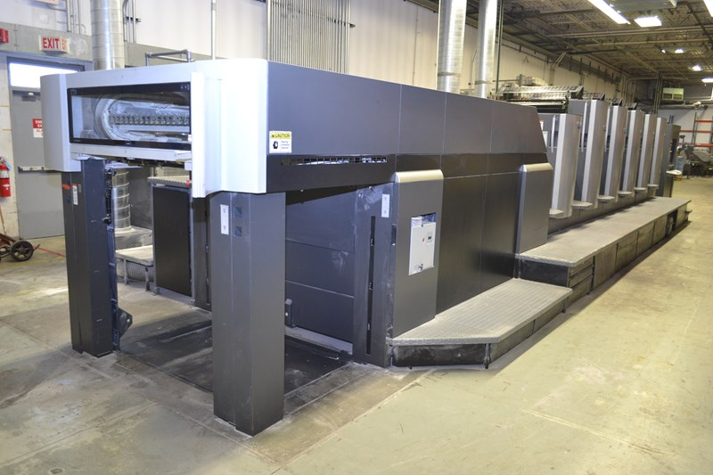 "Heidelberg CD102-5+L 28""x40"" 5/c sheet fed offset printing press"
