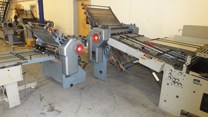 """Stahl B30 30"""" (6) plate continuous feed folder w/ 8 pg. attachment - reconditioned"""