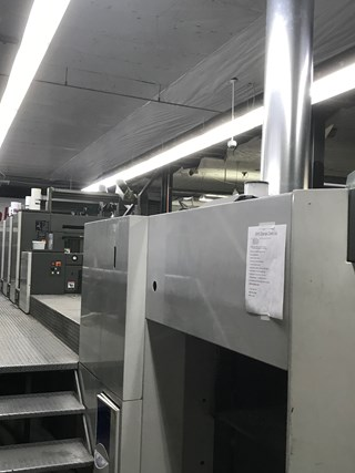 2008 (07/30/2008) Komori S440+C UV & IR Series 4045 Sheet Fed