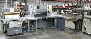 2003 Polar 137 Cutter Autotrim with side tables and a Knorr RLA 3-P Jogger Index Cutters