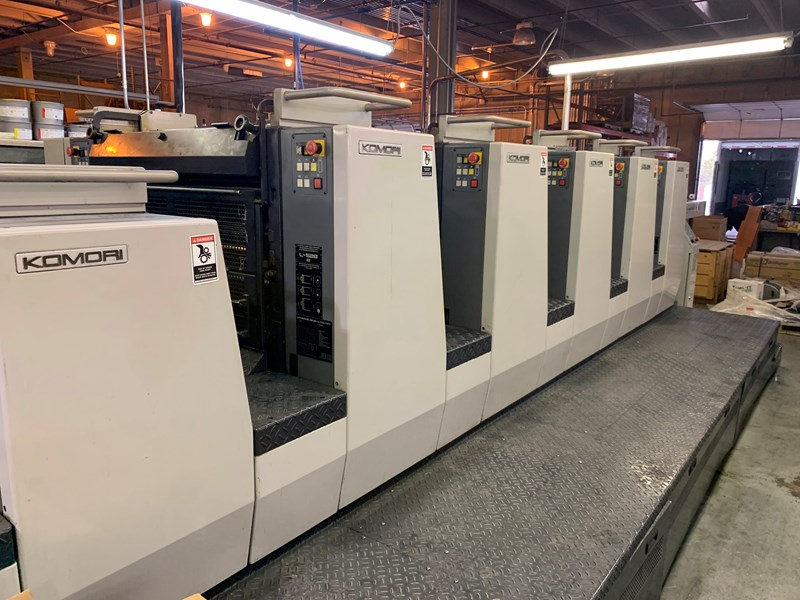2003 Komori L 528 +LX Plus Coater fully automated