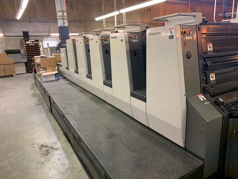 Show details for 2003 Komori L 528 +LX Plus Coater fully automated