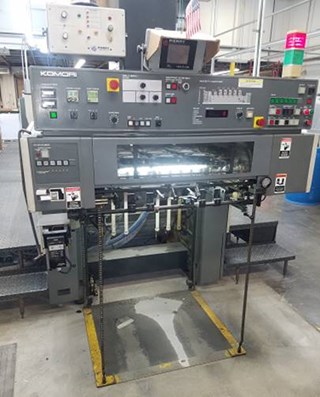 Komori Lithrone L528 with Coater SAPC Sheet Fed