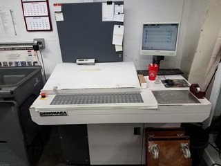 Shinohara 52 IVP 4/color 14x20 2/2 perfector, with Semi Auto plate Sheet Fed