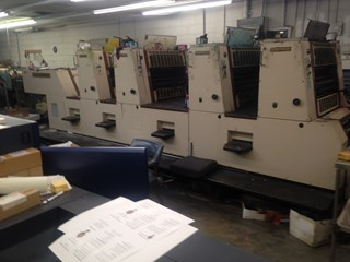 Shinohara 66 IVP  19x26 . 4/Color Continuous damps, Console, high pile delivery Sheet Fed