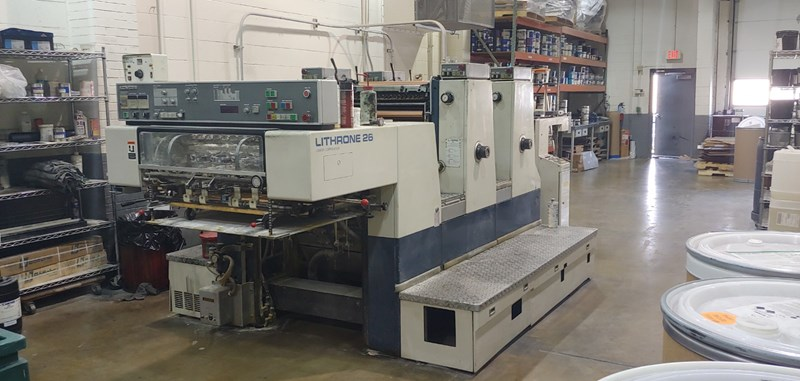 Komori Lithrone L-226-I , 13,000 iph  double size cylinders