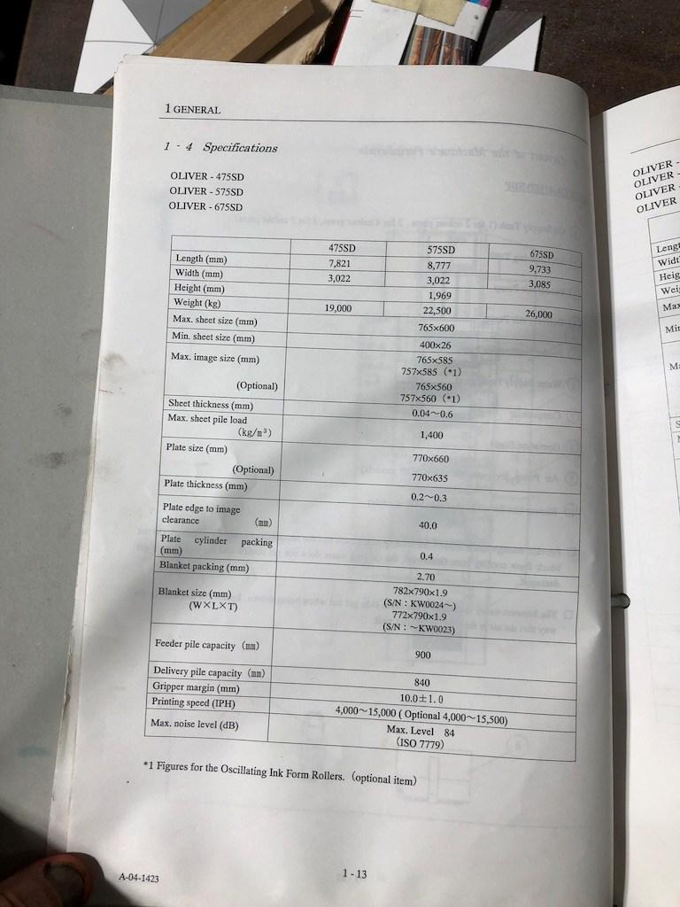 "SAKURAI 575 SD+CTR  23 5/8"" x 30 1/8""  SAPC + Presets . 15,000 IPH (Mechanic inspected)"