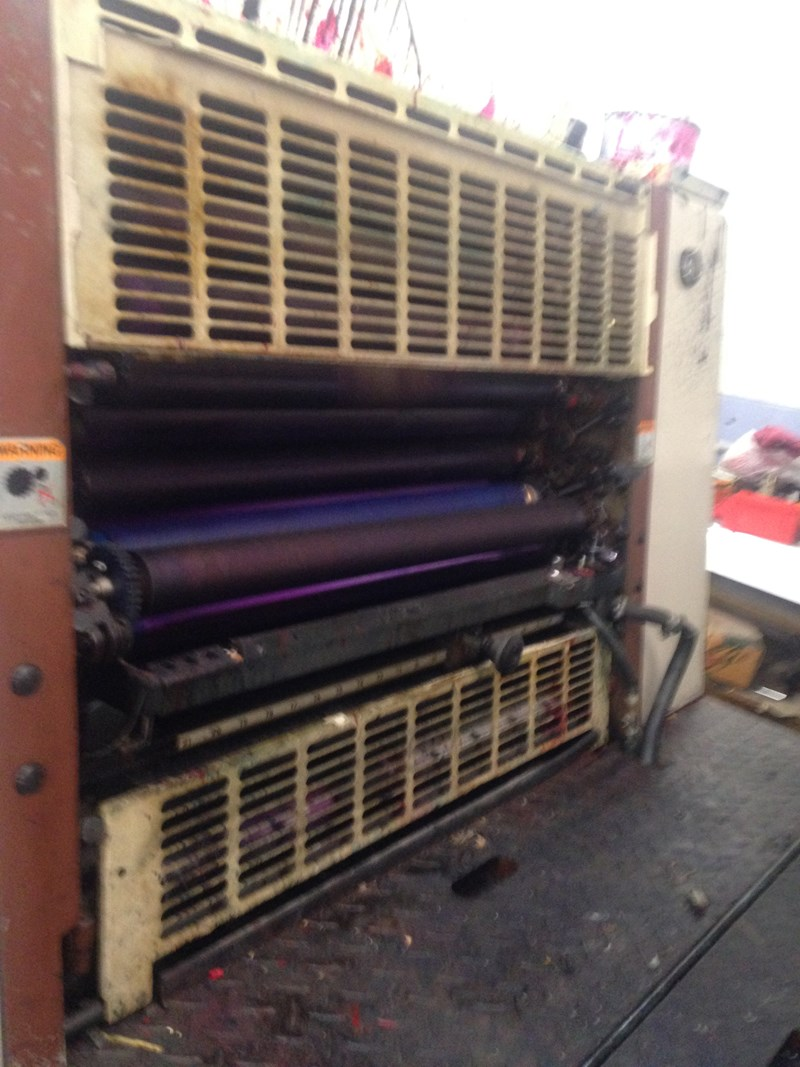 Shinohara 66 IVP  19x26 . 4/Color Continuous damps, Console, high pile delivery
