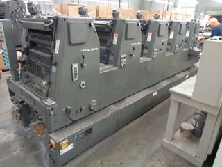 HEIDELBERG GTOFP 52, YEAR: 1987,  FIVE COLOR PRESS, ALCOLOR DAMPENING Offset de pliegos