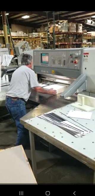 Polar 115 ED FACTORY PROG, SCREEN, AIR BED TABLE & TWO BIG AIR SIDE TABLES Guillotines/Cutters