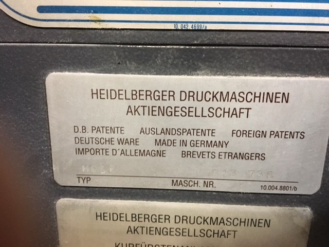 Heidelberg MOZP S