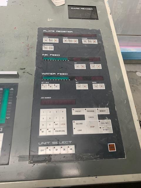 1993 Komori L 428 Komorimatics, PQC Console