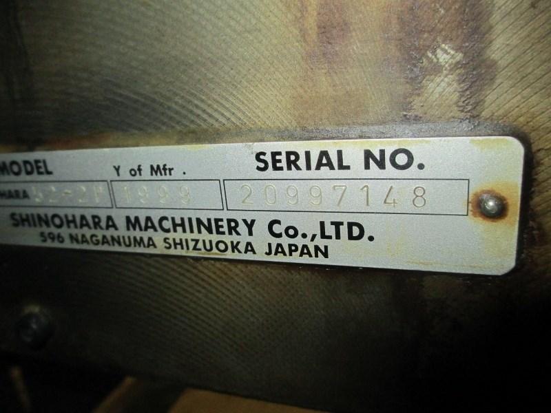 SHINOHARA 52 -2P, YR: 1999,  TWO COLOR PRESS