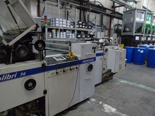 Steinemann Colibri 74 UV Coating Machine MACHINES A PELLICULER ET CONTRE-COLLER