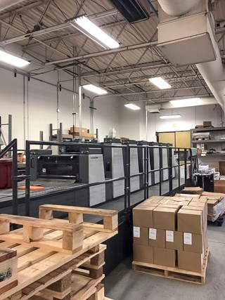 Komori L628+CX  Sheet Fed