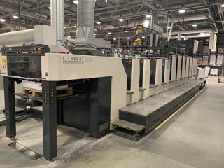 Komori LSX 629+CX w/ UV + Coldfoil & Embossing Sheet Fed
