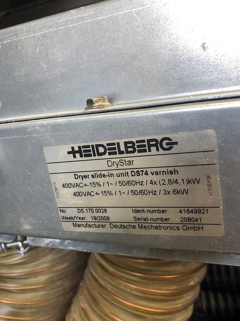 Heidelberg SM 74 - 5 P H L - 2009