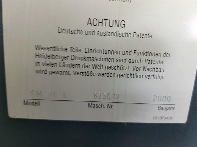 Heidelberg SM 74 - 6 H - 2000 (Post Drupa Model)