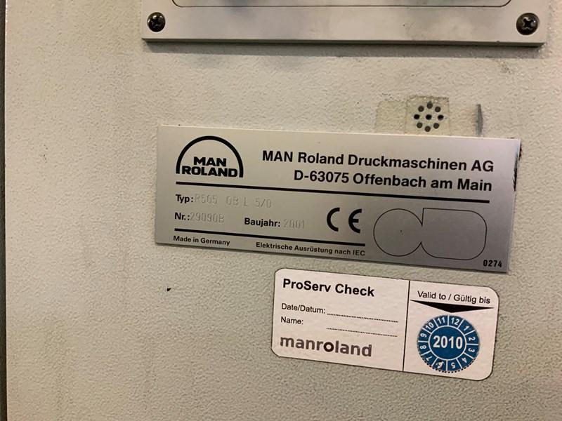 MAN ROLAND 505 L+V  -  2001