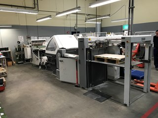 Heidelberg stahlfolder KH66/6KL + SBP46 standing delivery 6 Pockets +2 Knives Flat pile feeder  Folding machines