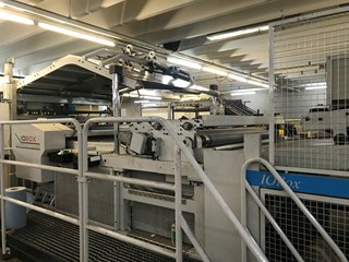 IOBox CD1650 Fully Automatic paper to board laminator Build in Spain max. 1650mm. Laminating and coating