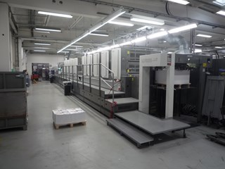 Komori LS1040P+Coater Sheet Fed