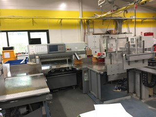 Polar 115 XT comleat line with Transomat & Jogger  & Lift  Guillotines/Cutters