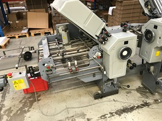 Stahl  2nd Station t2 52.3t/4 with 4 bugles & one Knive BK25.2 + delivery belt Folding machines