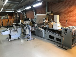 Stahl RD-78-T-6 + 2nd station MAD-66/4-T + knive unit  gate folding, and almost new Gluing unit Hss Folding Machines