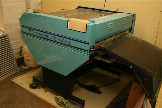 Howsen Algraphy Autoneg Plate processor