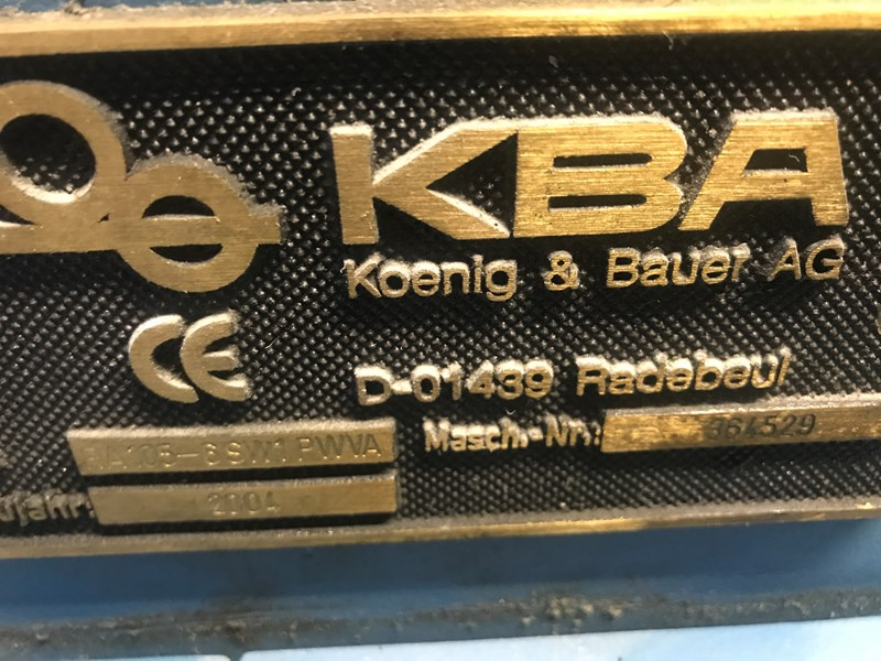 KBA Rapida RA105-6 SW1 PWVA