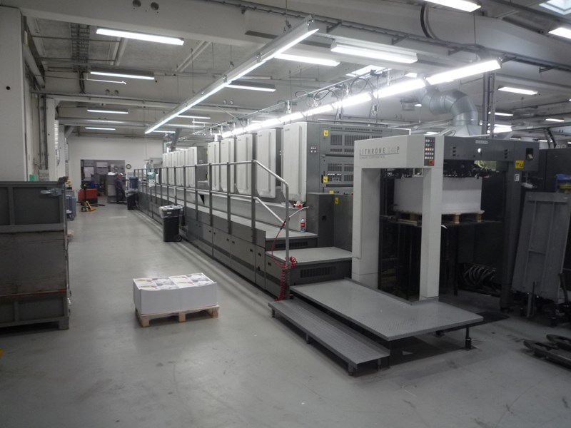 Show details for Komori LS1040P+Coater 2008 new rollers and jackets ! In 2018