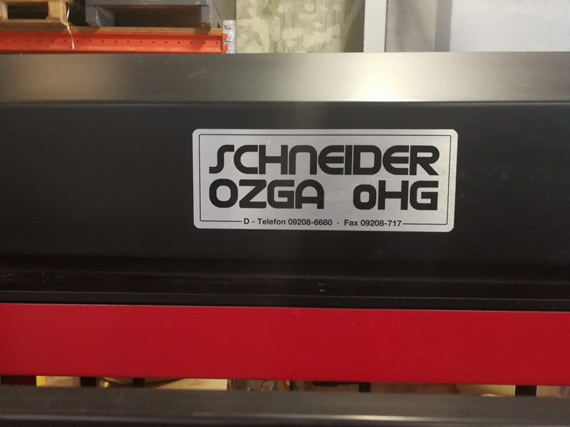 Schneider & Ozga V88 Full strapping line with a turner for a cross strapping