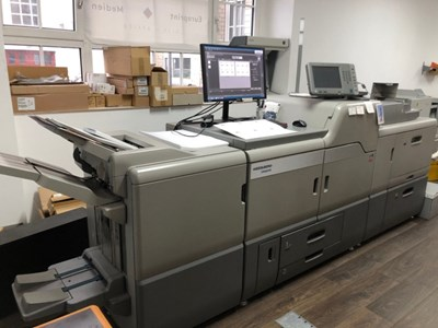 Heidelberg Pro C7100X five color with white and varnish