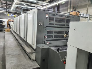 Komori LS 540 LX with IR and UV extended delivery Sheet Fed