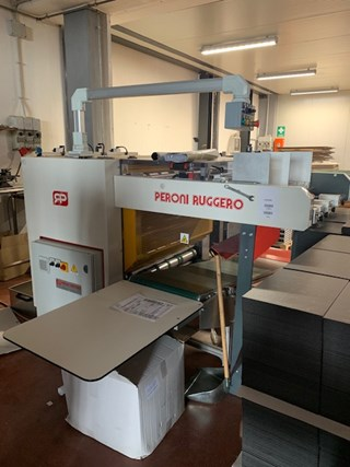 Peroni SCR 1000 Grooving machine Hard Cover Book production