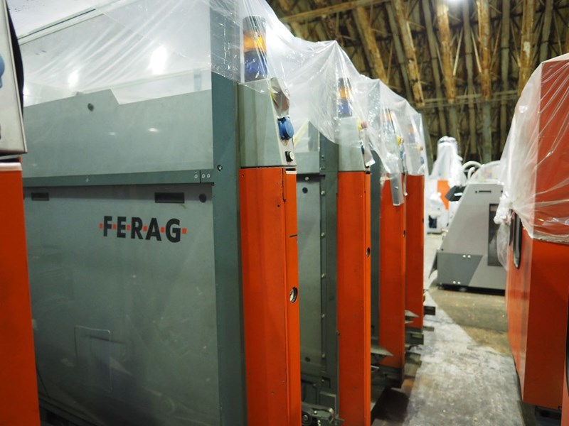 Show details for A Ferag mailroom system with inserting and MTD.