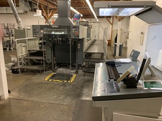 Komori Lithrone NL528+CX Sheet Fed