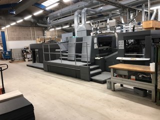 2006 Heidelberg XL105-LY UV/IR Coating Machine Laminating and coating
