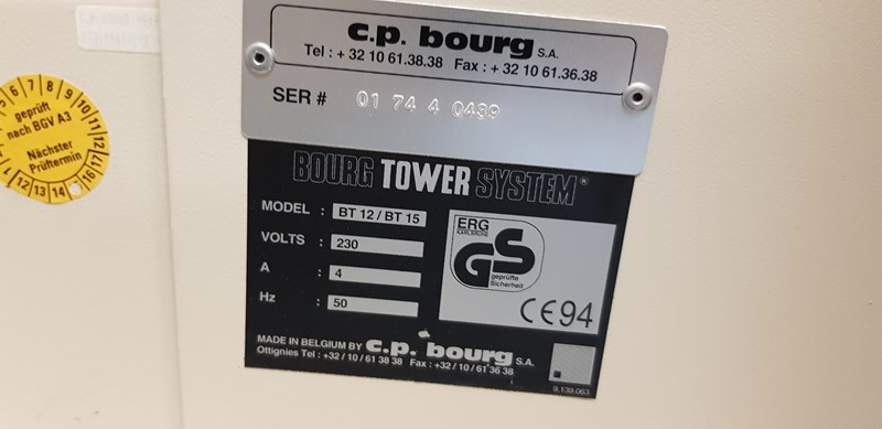 C.P. Bourg Bookletmachine 57 Stations