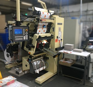 BERHALTER B 500 automatic die-cutting machine - IML Labels  Die Cutting