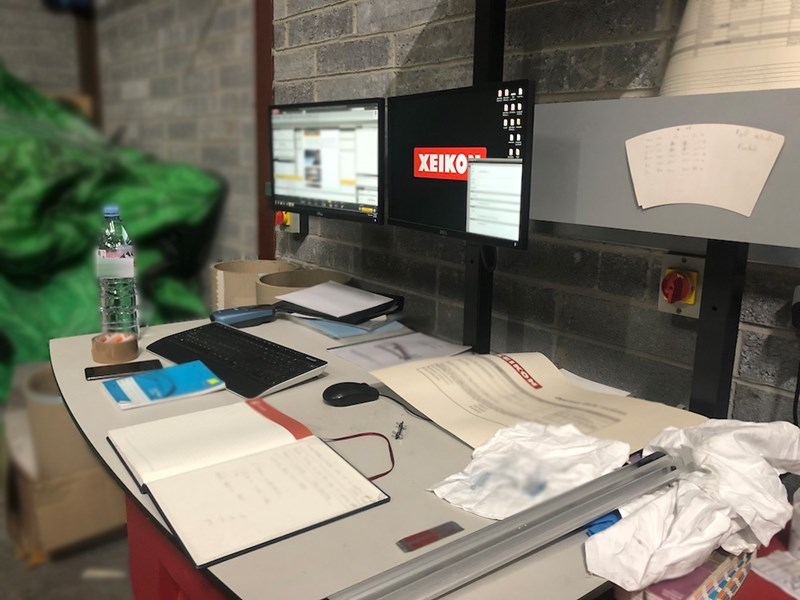 Xeikon 3500 digital printing machine for labels and packaging