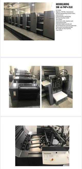 Heidelberg SM-6-74P+3LX Sheet Fed